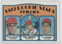 Rookie Stars Phillies (Pete Koegel, Mike Anderson, Wayne Twitchell)