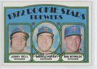 Rookie Stars Brewers (Jerry Bell, Darrell Porter, Bob Reynolds)