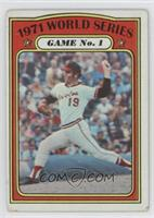 1971 World Series Game No. 1 (Dave McNally) [Good to VG‑EX]