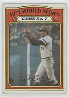 1971 World Series Game No. 7 (Steve Blass) [Good to VG‑EX]