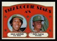 Rookie Stars A's (Dwain Anderson, Chris Floethe) [EX MT]