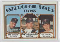 Rookie Stars Twins (Bob Gebhard, Steve Brye, Hal Haydel)