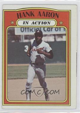 1972 Topps #300 - Hank Aaron (In Action)