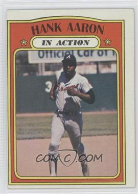 1972 Topps #300 - Hank Aaron (In Action)