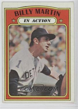 1972 Topps #34 - Billy Martin In Action