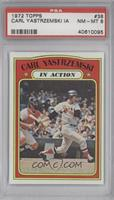 Carl Yastrzemski In Action [PSA 8]