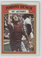 Johnny Bench In Action
