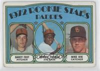 Rookie Stars Padres (Darcy Fast, Derrel Thomas, Mike Ivie) [Good to V…