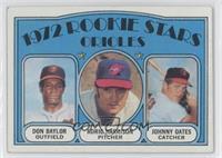 Rookie Stars Orioles (Don Baylor, Roric Harrison, Johnny Oates)