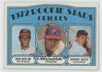 Rookie Stars Orioles (Don Baylor, Roric Harrison, Johnny Oates)
