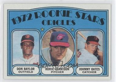 1972 Topps #474 - Rookie Stars Orioles (Don Baylor, Roric Harrison, Johnny Oates)