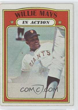 1972 Topps #50 - Willie Mays In Action (In Action)