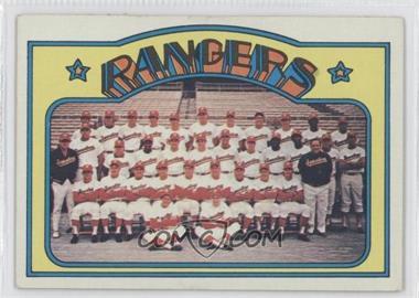 1972 Topps #668 - Texas Rangers Team
