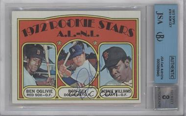 1972 Topps #761 - Rookie Stars A.L.-N.L. (Ben Oglivie, Ron Cey, Bernie Williams) [BGS/JSA Certified Auto]