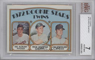 1972 Topps #778 - Rookie Stars Twins (Vic Albury, Rick Dempsey, Jim Strickland) [BVG 7]