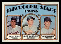 Rookie Stars Twins (Vic Albury, Rick Dempsey, Jim Strickland) [NM]