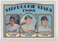 Rookie Stars Twins (Vic Albury, Rick Dempsey, Jim Strickland)