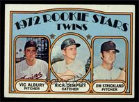 Rookie Stars Twins (Vic Albury, Rick Dempsey, Jim Strickland) [EX]