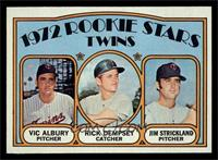 Rookie Stars Twins (Vic Albury, Rick Dempsey, Jim Strickland) [NM]
