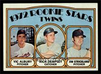 Rookie Stars Twins (Vic Albury, Rick Dempsey, Jim Strickland) [EXMT]