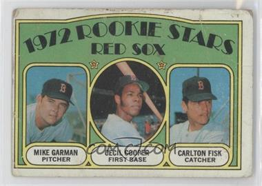 1972 Topps #79 - Red Sox Rookie Stars (Mike Garman, Cecil Cooper, Carlton Fisk)