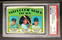 Red Sox Rookie Stars (Mike Garman, Cecil Cooper, Carlton Fisk) [PSA 8]