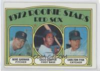 Red Sox Rookie Stars (Mike Garman, Cecil Cooper, Carlton Fisk)