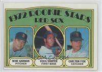 Red Sox Rookie Stars (Mike Garman, Cecil Cooper, Carlton Fisk)