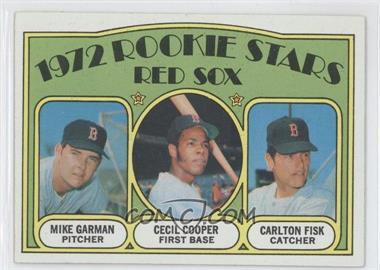 1972 Topps #79 - Red Sox Rookie Stars (Mike Garman, Cecil Cooper, Carlton Fisk)
