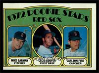 Red Sox Rookie Stars (Mike Garman, Cecil Cooper, Carlton Fisk) [EX]