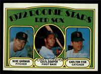 Red Sox Rookie Stars (Mike Garman, Cecil Cooper, Carlton Fisk) [EX MT]