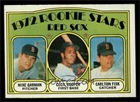 Red Sox Rookie Stars (Mike Garman, Cecil Cooper, Carlton Fisk) [EXMT]