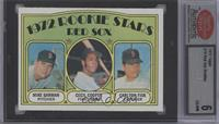 Red Sox Rookie Stars (Mike Garman, Cecil Cooper, Carlton Fisk) [ENCASED]