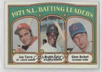 1971 N.L. Batting Leaders (Joe Torre, Ralph Garr, Glenn Beckert)