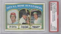 A.L. Home Run Leaders (Bill Melton, Norm Cash, Reggie Jackson) [PSA 9&nbsp…