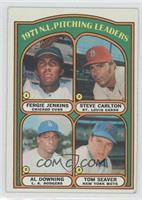 1971 N.L. Pitching Leaders (Fergie Jenkins, Steve Carlton, Al Downing, Tom Seat…