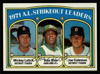 A.L. Strikeout Leaders (Mickey Lolich, Vida Blue, Joe Coleman) [NM MT]
