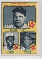 Babe Ruth, Hank Aaron, Willie Mays [GoodtoVG‑EX]