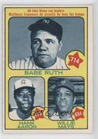Babe Ruth, Hank Aaron, Willie Mays [Good to VG‑EX]