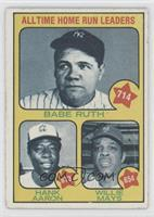 All Time Home Run Leaders (Babe Ruth, Hank Aaron, Willie Mays) [Good to&nb…