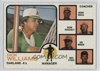 A's Coaches (Dick Williams, Jerry Adair, Vern Hoscheit, Irv Noren, Wes Stock) (…