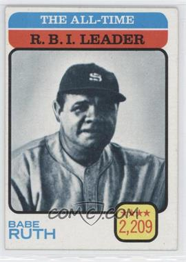 1973 Topps - [Base] #474 - Babe Ruth