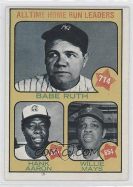 1973 Topps #1 - All Time Home Run Leaders (Babe Ruth, Hank Aaron, Willie Mays)