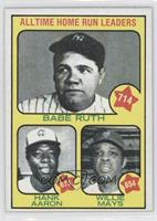 All Time Home Run Leaders (Babe Ruth, Hank Aaron, Willie Mays) [Altered]