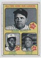 All Time Home Run Leaders (Babe Ruth, Hank Aaron, Willie Mays) [Poor]