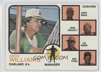 Oakland A's Coaches (Dick Williams, Jerry Adair, Vern Hoscheit, Irv Noren, Wes …