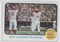World Series Game 6 (Reds' Slugging Ties Series)