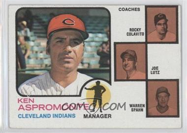 1973 Topps #449 - Ken Aspromonte, Rocky Colavito, Joe Lutz, Warren Spahn