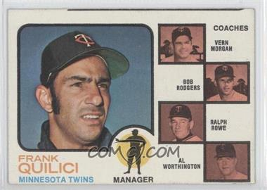 1973 Topps #49 - Frank Quilici