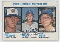 1973 Rookie Pitchers (Jimmy Freeman, Charlie Hough, Hank Webb) [Good to&nb…